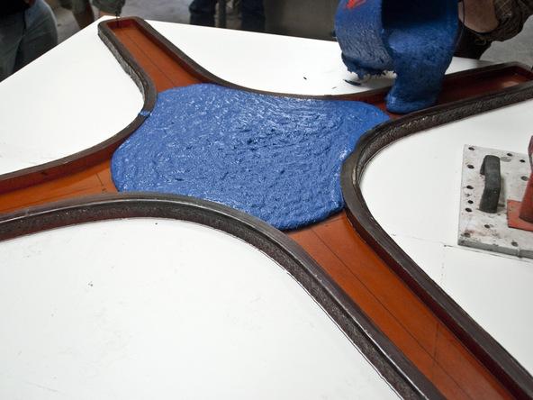 Casting the Concrete for Bent Concrete Side Table | CHENG Concrete Exchange