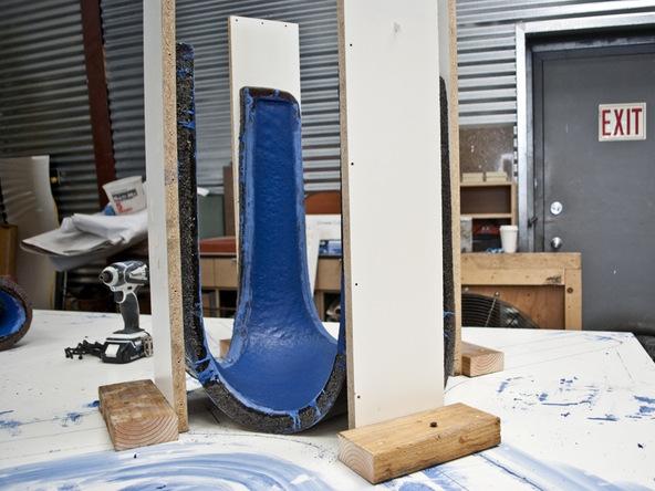 Casting Concrete Step 7.1 - Bent Concrete Side Table | CHENG Concrete Exchange