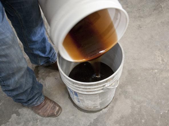 Mixing Rubber Step 4 - Bent Concrete Side Table | CHENG Concrete Exchange