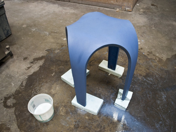Sealing Step 2.3 - Bent Concrete Side Table | CHENG Concrete Exchange