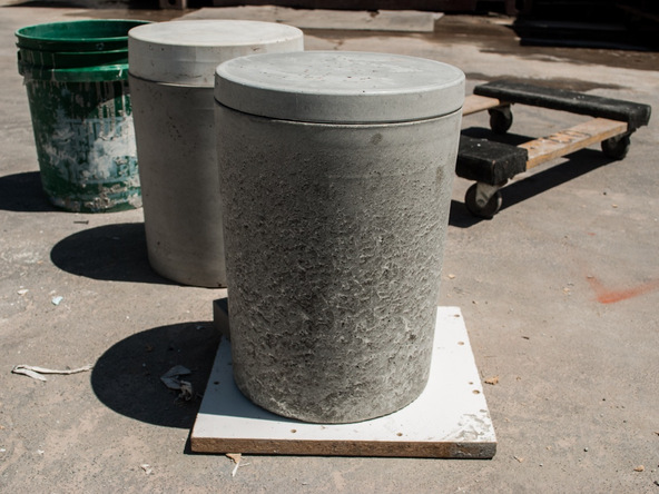 Step 16.1, Finish the Concrete - 5-Gallon Bucket Storage Stool Pro-Formula | CHENG Concrete Exchange
