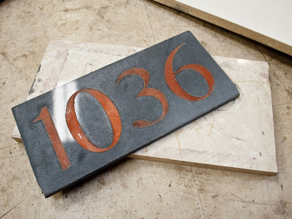 Step 5.3, Demold - Concrete House Numbers | CHENG Concrete Exchange