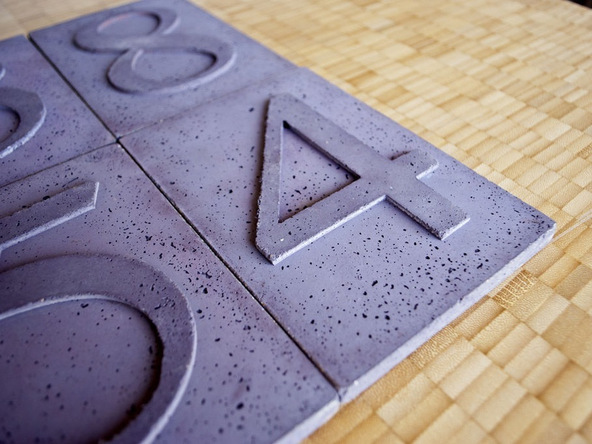 Step 6.1, Finished House Numbers - Concrete House Numbers | CHENG Concrete Exchange