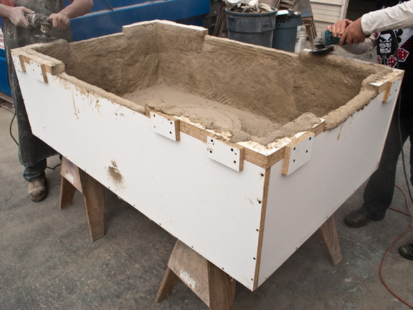 Demolding Step 1.2 - Fabric Formed Concrete Fire Table | CHENG Concrete Exchange