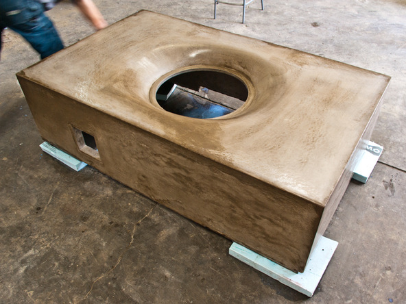 Fabric Formed Concrete Fire Pit | CHENG Concrete Exchange
