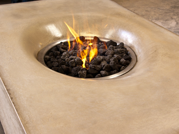 Fabric-Formed Concrete Fire Table| CHENG Concrete Exchange
