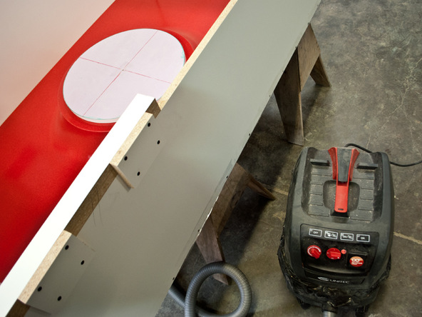 Vacuum Hookup Step 2.1 - Fabric Formed Concrete Fire Table   CHENG Concrete Exchange