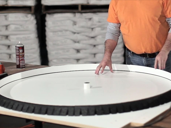 Tabletop Forming Step 3.2 - Round Tabletop and Base | CHENG Concrete Exchange