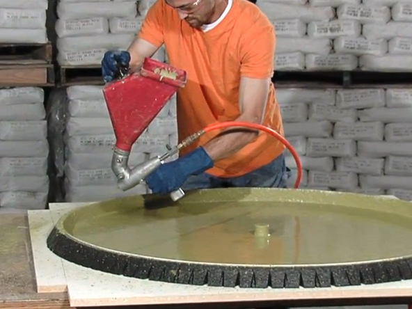 Next: Tabletop Casting · Round Concrete Tabletop And Base   Tabletop  Spraying | CHENG Concrete Exchange