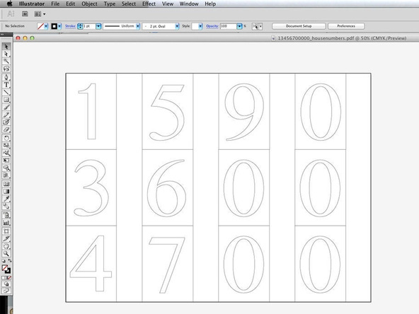 Step 1.1, Print a Template and Cut Gasket Rubber - Concrete House Numbers | CHENG Concrete Exchange