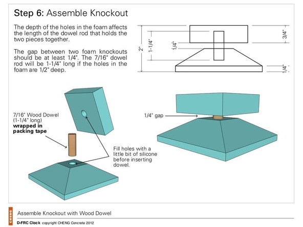 Step 6, Assemble the Knockout - Clock | CHENG Concrete Exchange