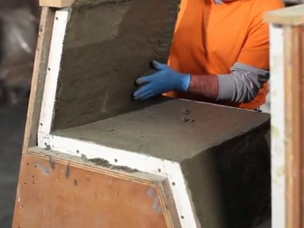 Mixing and Casting Step 1.3 - Greenbrae Chair | CHENG Concrete Exchange