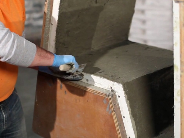 Mixing and Casting Step 2.1 - Greenbrae Chair | CHENG Concrete Exchange