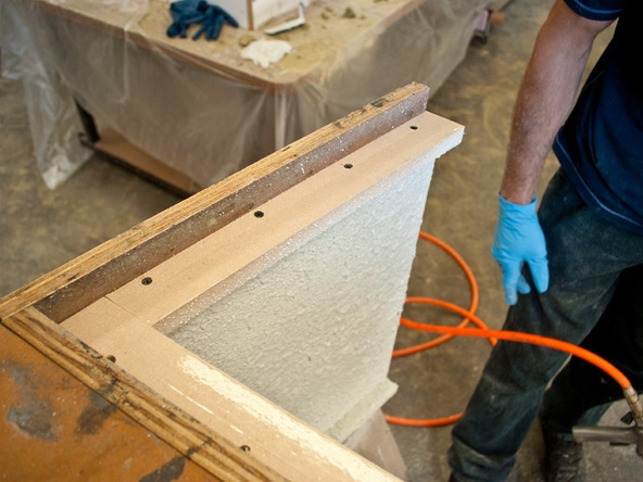 Spraying and Casting Step 1.2 - Greenbrae Chair | CHENG Concrete Exchange
