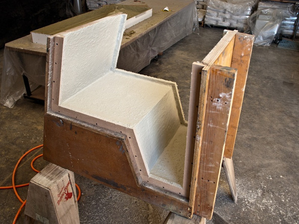 Spraying and Casting Step 3.1 - Greenbrae Chair | CHENG Concrete Exchange