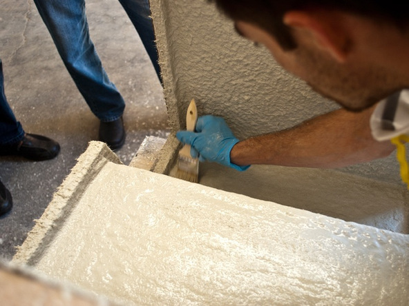 Spraying and Casting Step 4.3 - Greenbrae Chair | CHENG Concrete Exchange