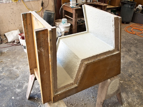 Spraying and Casting Step 5 - Greenbrae Chair | CHENG Concrete Exchange