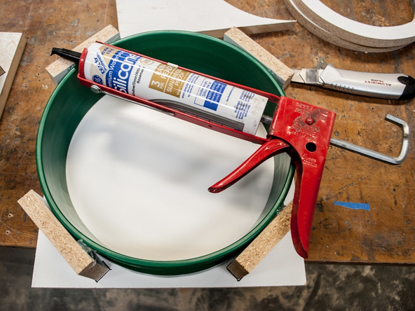 Step 2.1, Seal the Form - 5-Gallon Bucket Storage Stool Pro-Formula | CHENG Concrete Exchange