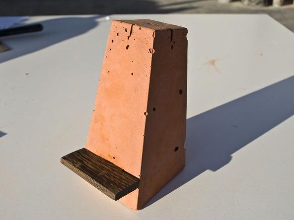 Step 9.3, Make the Wood Ledge - iPad Easel | CHENG Concrete Exchange