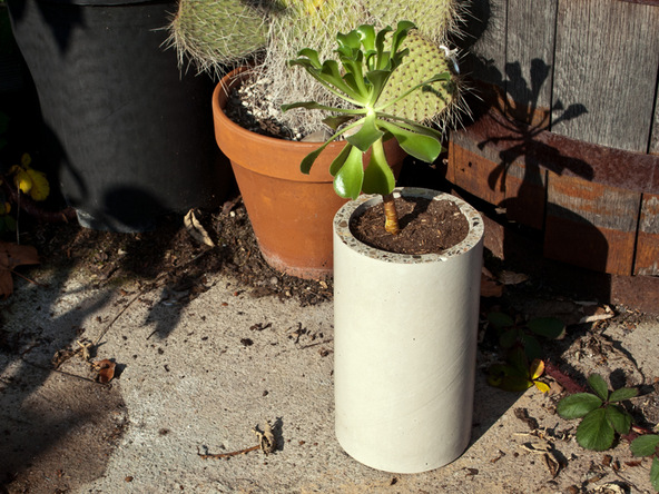 Concrete Cylindrical Planter | CHENG Concrete Exchange