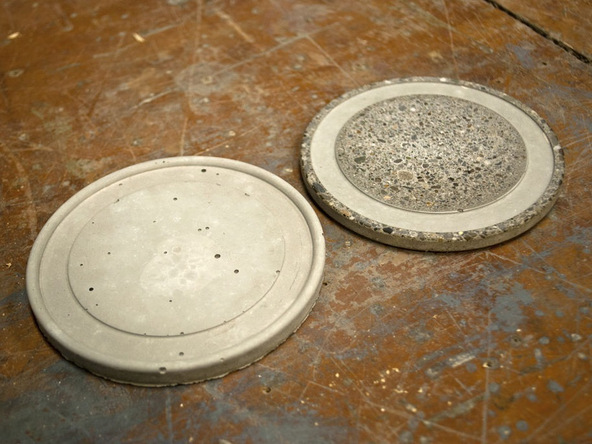 Step 6, Cast Finish vs. Ground - Concrete Coasters | CHENG Concrete Exchange