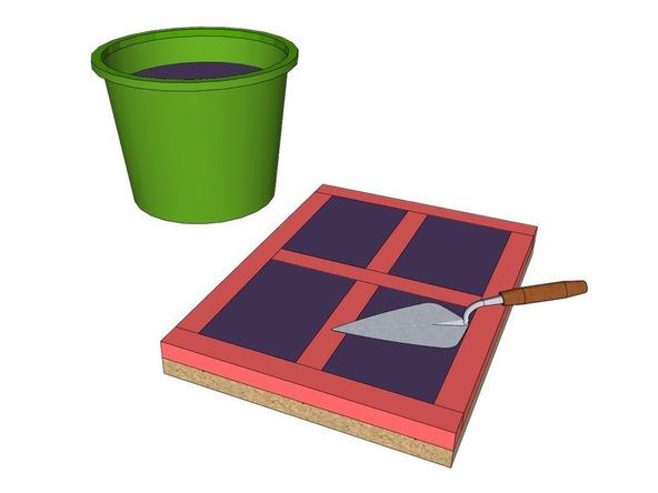 Step 4, Mix and Cast Concrete - Concrete House Numbers | CHENG Concrete Exchange