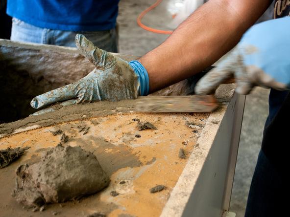 Casting Step 3.3 - Quadra Fire Pit | CHENG Concrete Exchange