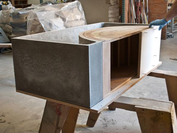 Unforming Step 2.2 - Quadra Fire Pit | CHENG Concrete Exchange