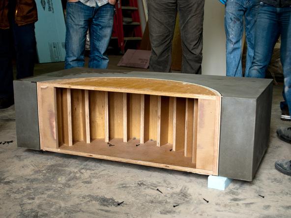 Unforming Step 2.3 - Quadra Fire Pit | CHENG Concrete Exchange