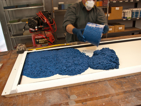 Casting Step 1.1 - Recycled Glass Countertops | CHENG Concrete Exchange