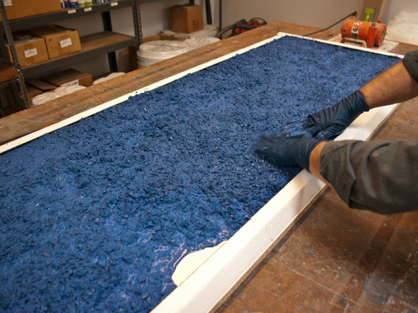 Casting Step 1.2 - Recycled Glass Countertops | CHENG Concrete Exchange