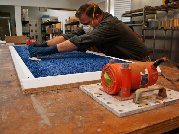 Casting Step 1.3 - Recycled Glass Countertops | CHENG Concrete Exchange