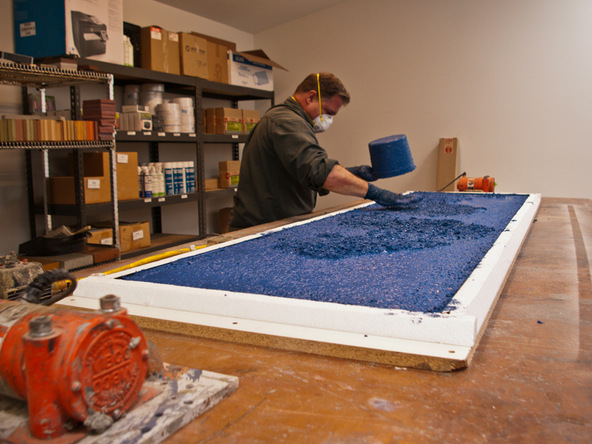 Casting Step 2.2 - Recycled Glass Countertops | CHENG Concrete Exchange