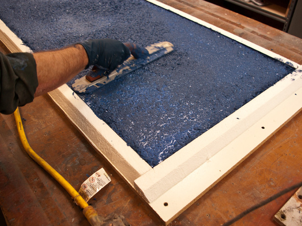 Casting Step 2.3 - Recycled Glass Countertops | CHENG Concrete Exchange