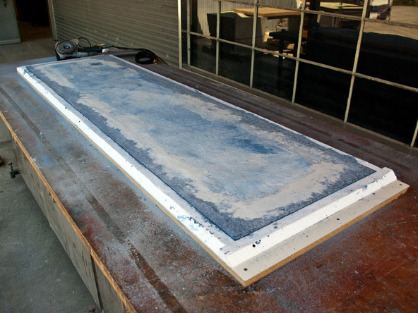 Grinding and Demolding Step 1.3 - Recycled Glass Countertops | CHENG Concrete Exchange
