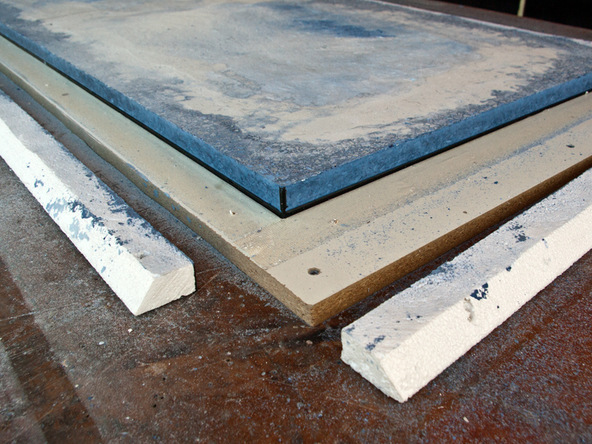 Grinding and Demolding Step 3.1 - Recycled Glass Countertops | CHENG Concrete Exchange