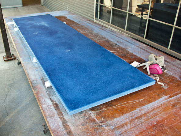 Grinding and Demolding Step 4.3 - Recycled Glass Countertops | CHENG Concrete Exchange