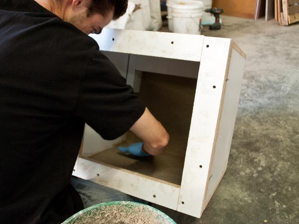 Casting Step 1.2 - Rhomba Bench | CHENG Concrete Exchange