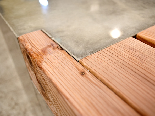 Finishing and Bench Top Step 2.2 - Rhomba Bench | CHENG Concrete Exchange