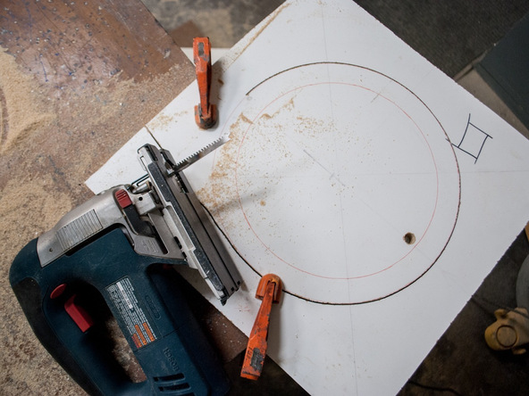 Step 3.2, Cut a Wood Ring - 5-Gallon Bucket Storage Stool Pro-Formula | CHENG Concrete Exchange