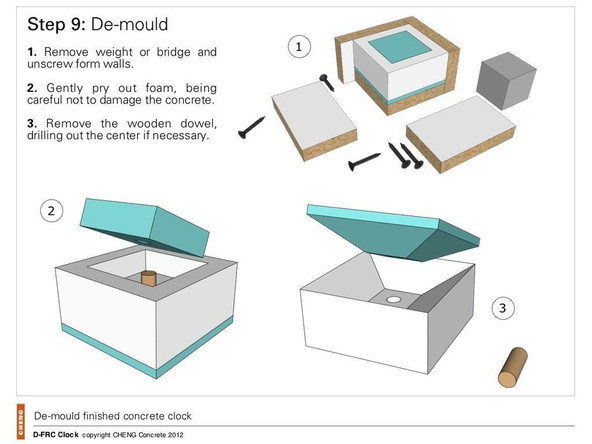 Step 9.1, Demold the Clock - Clock | CHENG Concrete Exchange