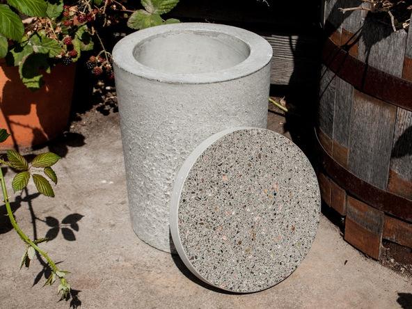 Step 16.2, Finish the Concrete - 5-Gallon Bucket Storage Stool Pro-Formula | CHENG Concrete Exchange