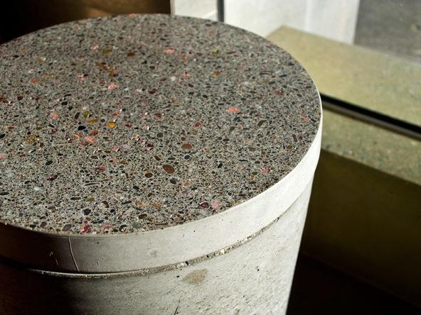 Step 17.3, Finished Piece - 5-Gallon Bucket Storage Stool Pro-Formula | CHENG Concrete Exchange
