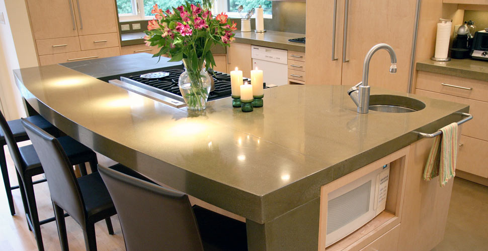 Concrete Kitchen Countertop And Island By Chris Stollery | Concrete Exchange