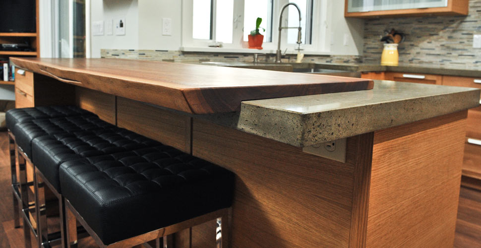 Walnut Wood and Concrete Countertop by Yves St. Hilaire | CHENG Concrete Exchange