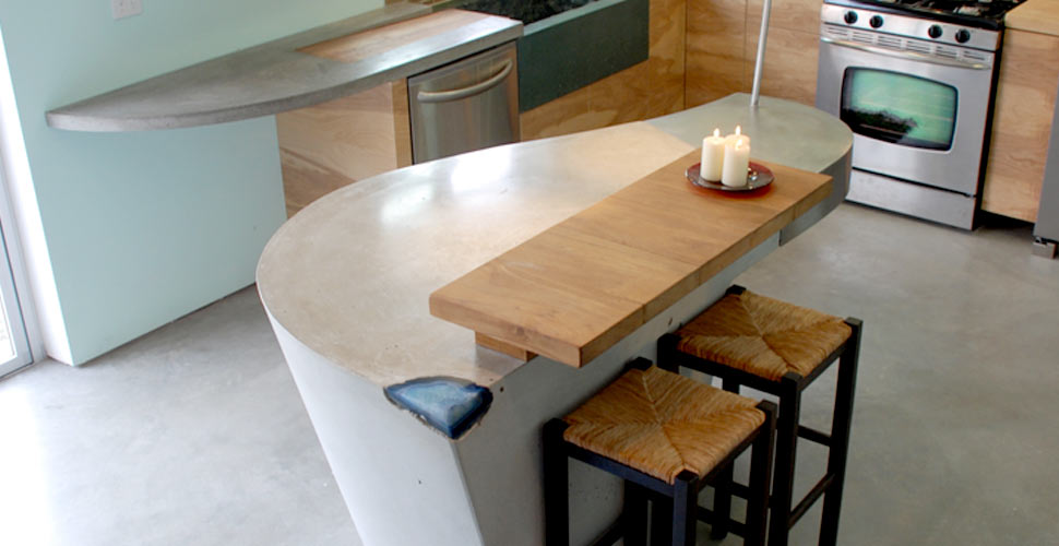 Concrete Island and Countertop by DC Custom Concrete | CHENG Concrete Exchange
