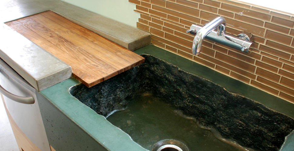Concrete Countertop and Integral Sink by DC Custom Concrete | CHENG Concrete Exchange