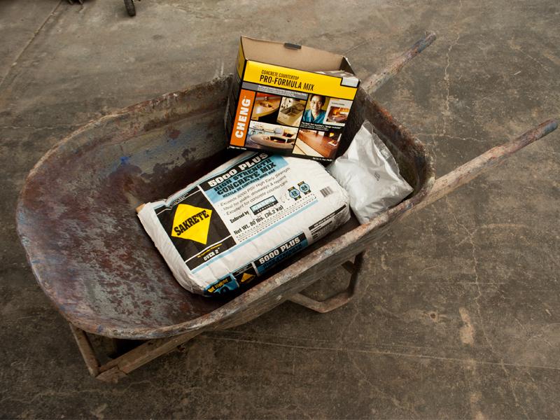Mixing Concrete in a Wheelbarrow - Step 1 | CHENG Concrete Exchange