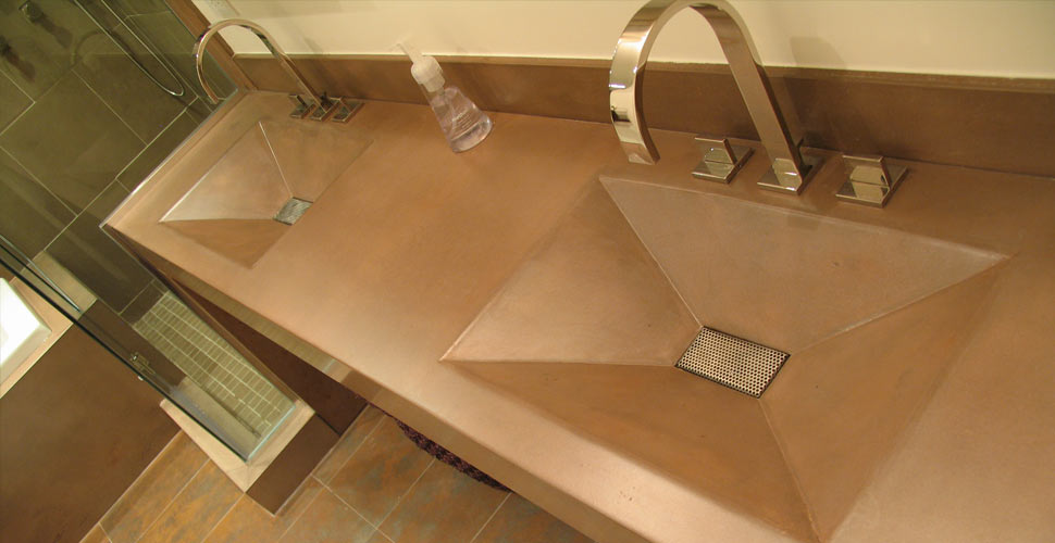 Integral Concrete Bathroom Sinks Cheng Concrete Exchange