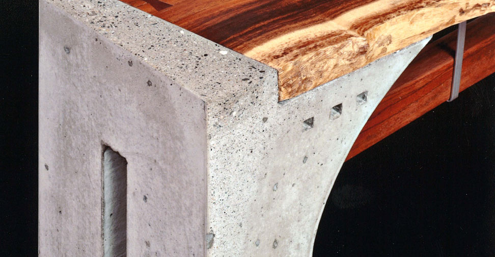Concrete and Wood Bench by Don Welsh | Concrete Exchange